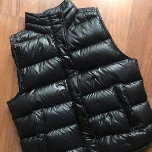 J. Crew Shimmery Black Puffer Vest